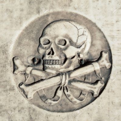 Skull in ancient tomb - Google Image